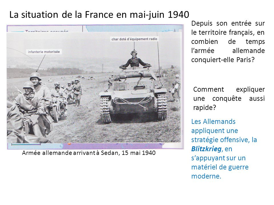 La situation de la France en mai-juin 1940