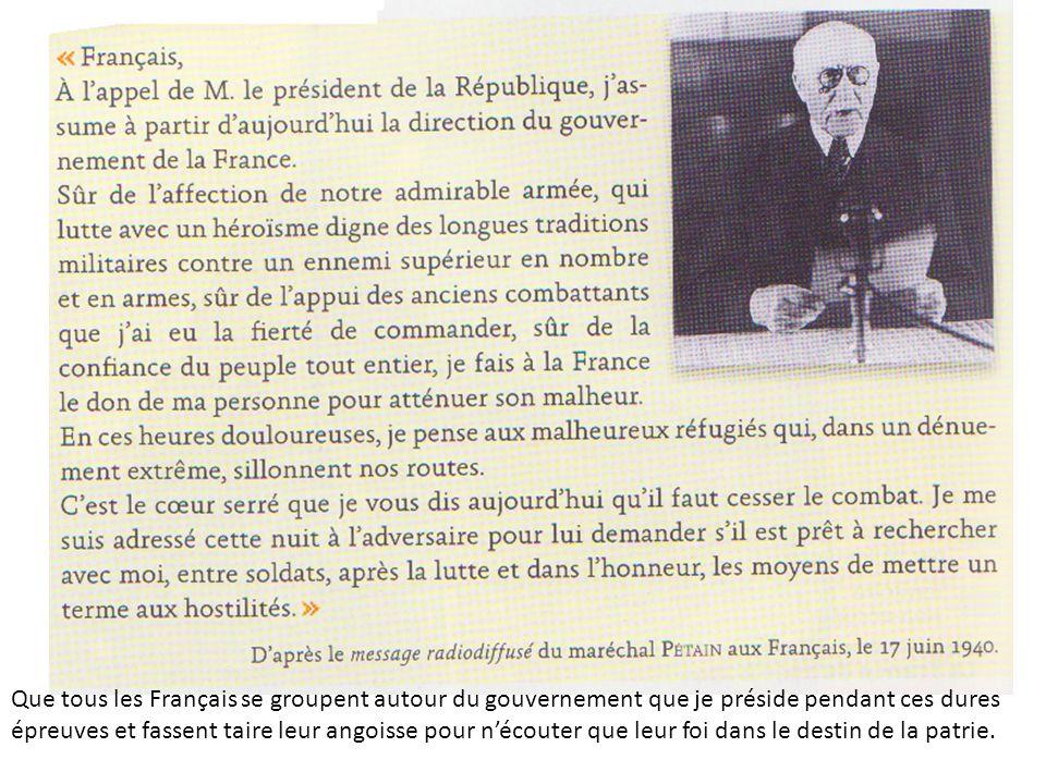 En quoi la défaite française de 1940 conduit-elle à la disparition de la IIIe République