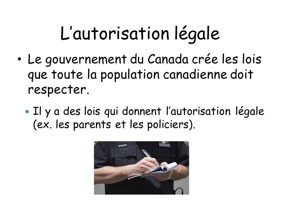 L'autorisation légale