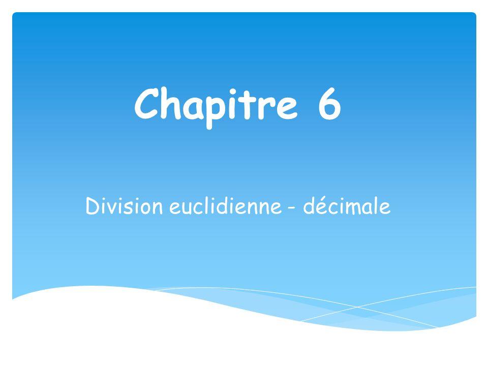 Division euclidienne - décimale