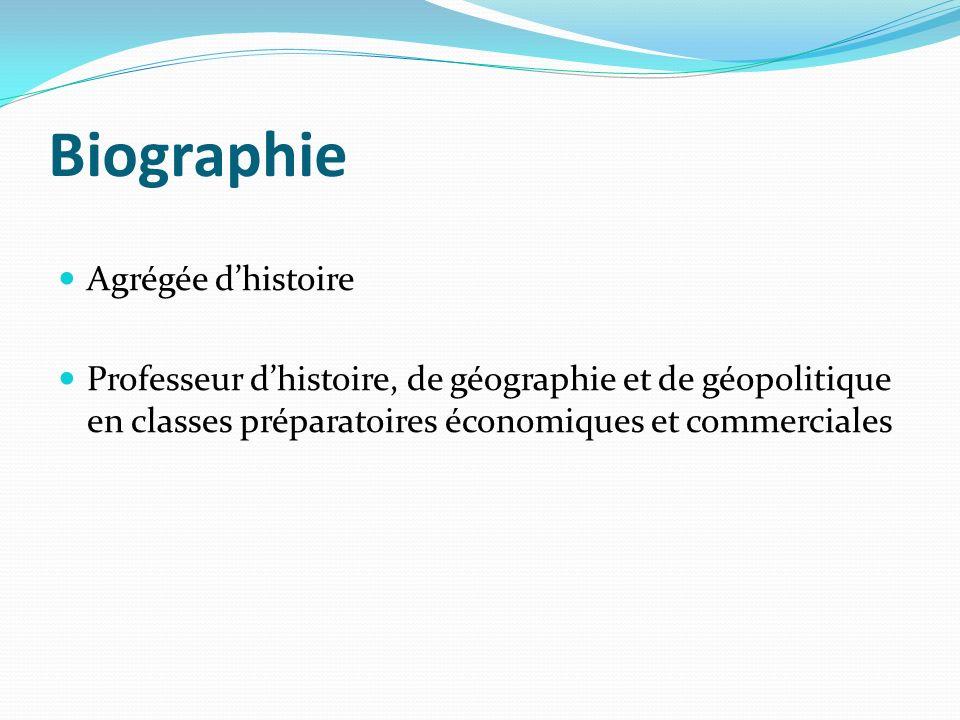 Biographie Agrégée d'histoire