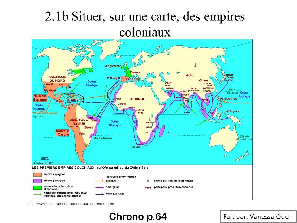 2.1b Situer, sur une carte, des empires coloniaux