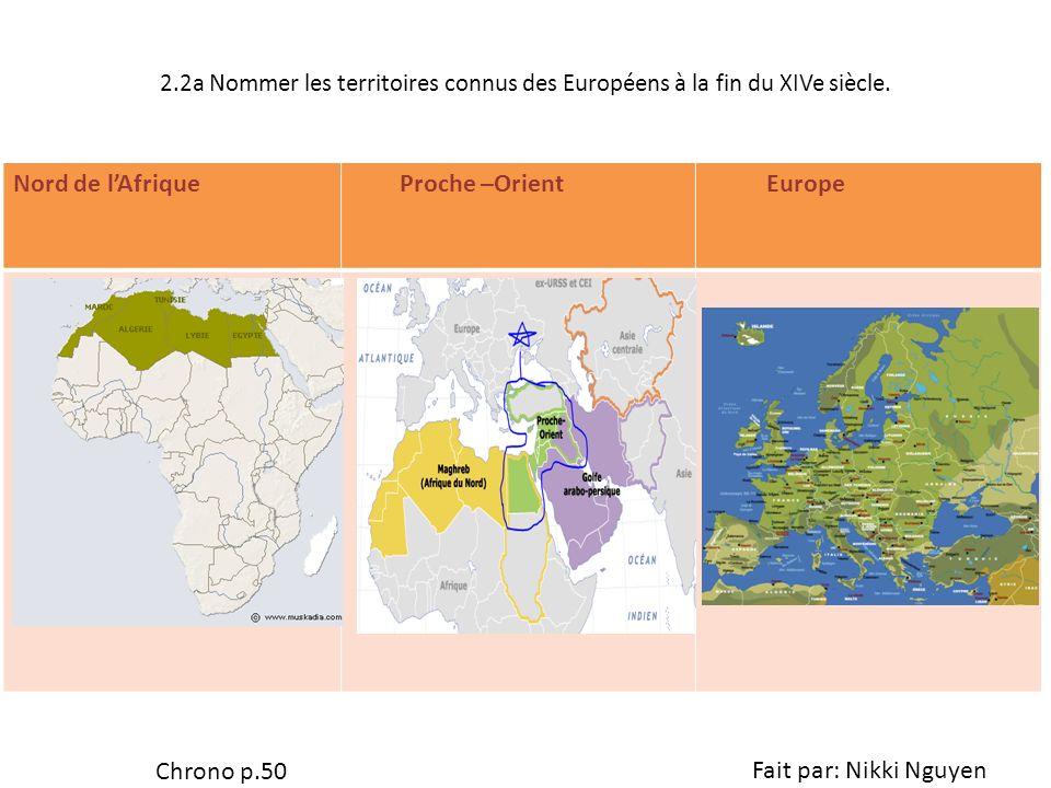 Nord de l'Afrique Proche –Orient Europe Chrono p.50