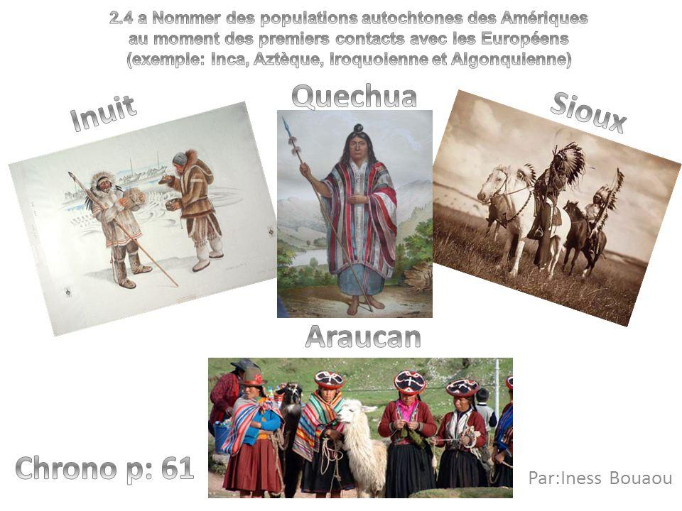 Quechua Inuit Sioux Chrono p: 61