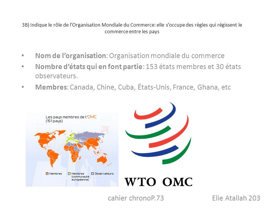 Nom de l'organisation: Organisation mondiale du commerce