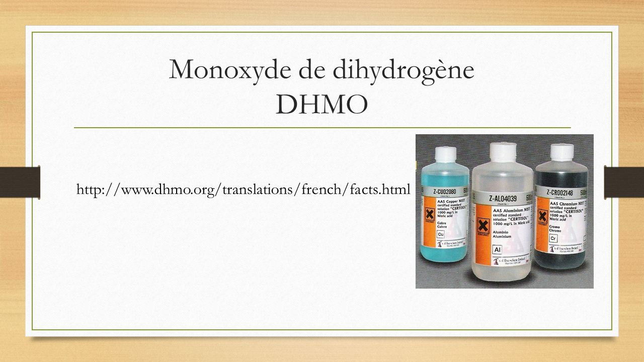 Monoxyde de dihydrogène DHMO