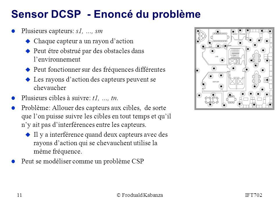 Sensor DCSP - Enoncé du problème
