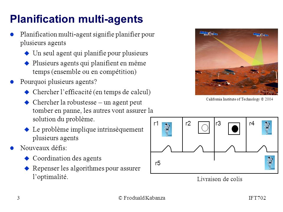 Planification multi-agents