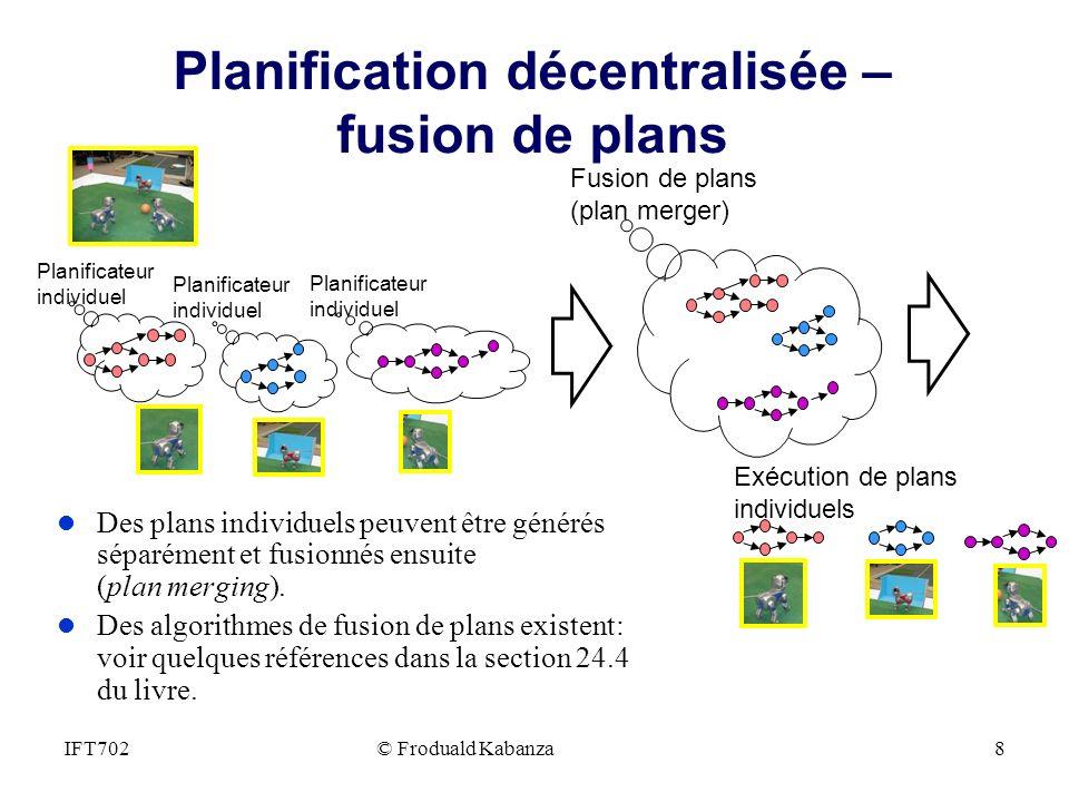 Planification décentralisée – fusion de plans