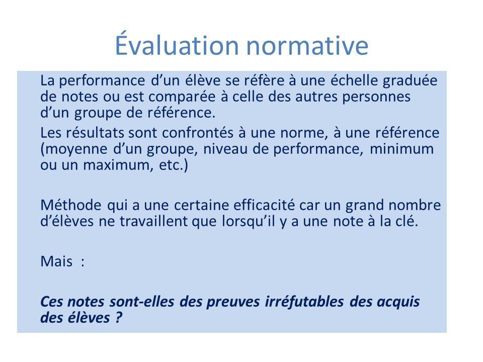 Évaluation normative