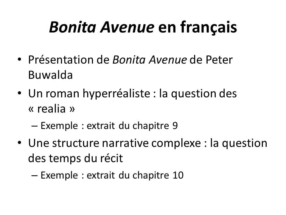 Bonita Avenue en français