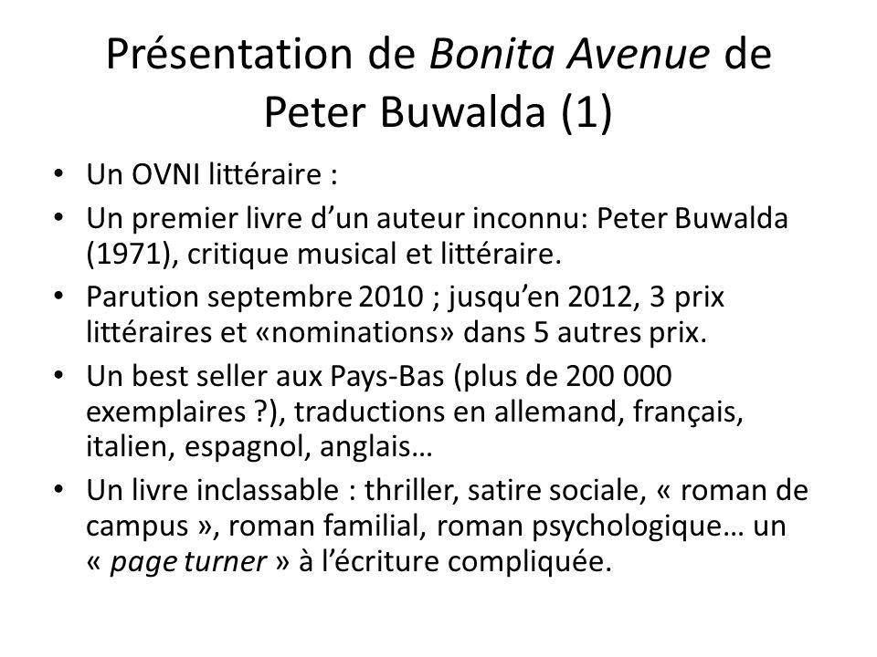 Présentation de Bonita Avenue de Peter Buwalda (1)
