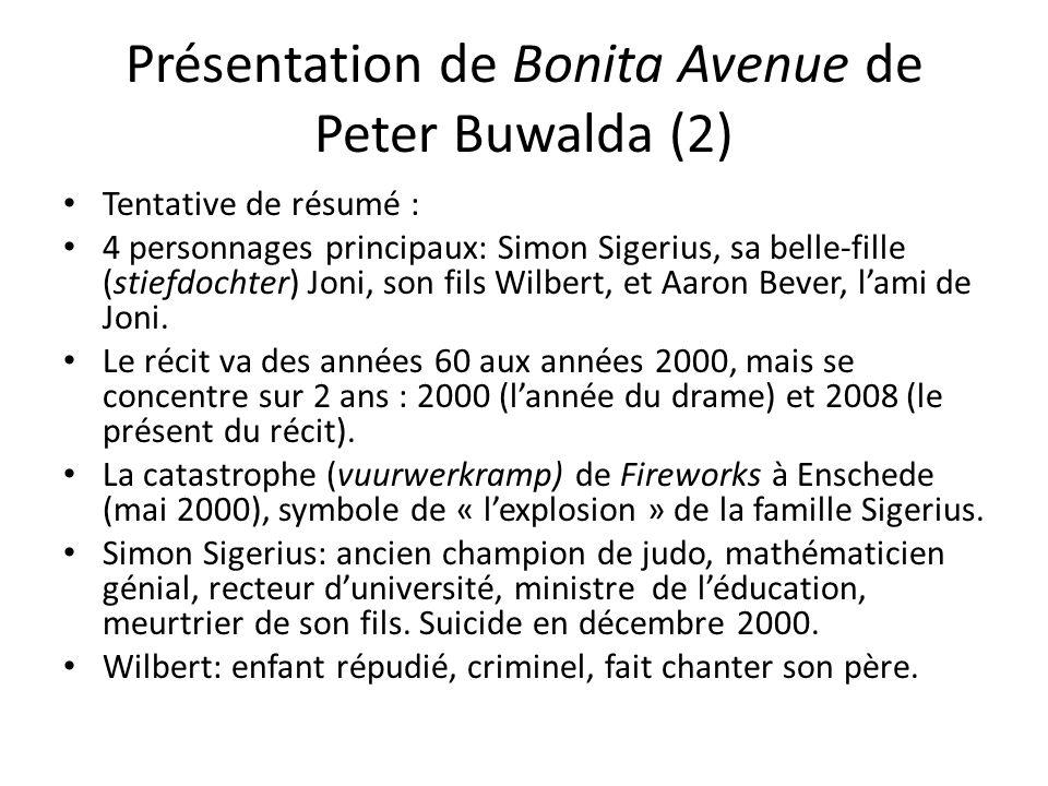 Présentation de Bonita Avenue de Peter Buwalda (2)