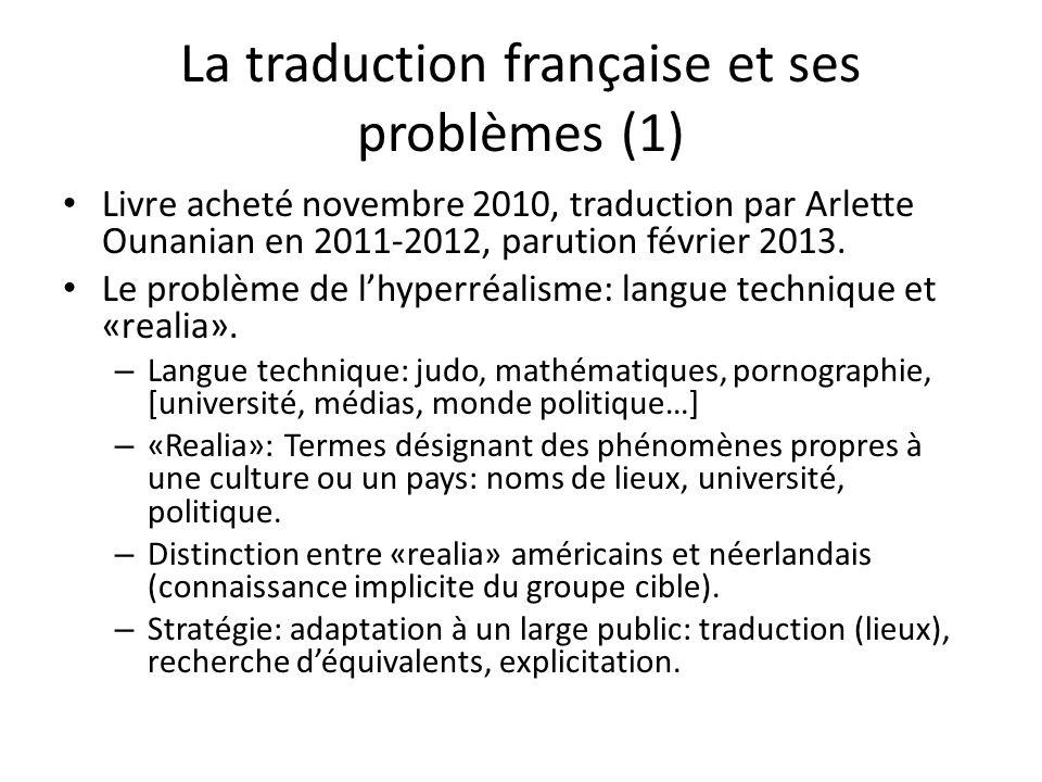 La traduction française et ses problèmes (1)