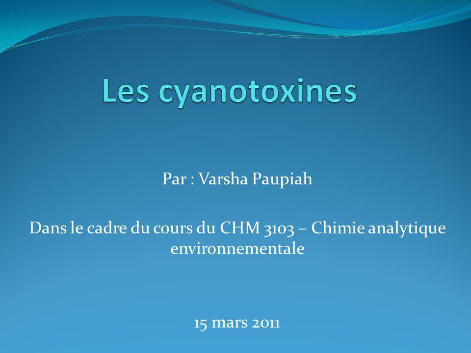 Les cyanotoxines Par : Varsha Paupiah