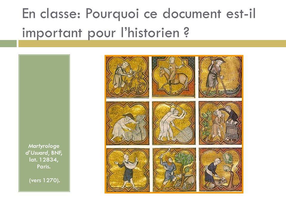 En classe: Pourquoi ce document est-il important pour l'historien