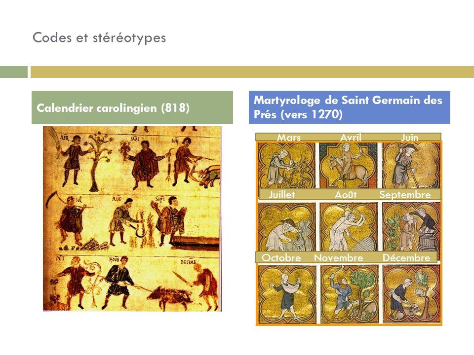 Codes et stéréotypes Martyrologe de Saint Germain des Prés (vers 1270)