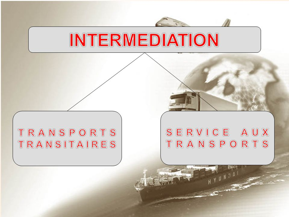 INTERMEDIATION TRANSPORTS TRANSITAIRES SERVICE AUX TRANSPORTS