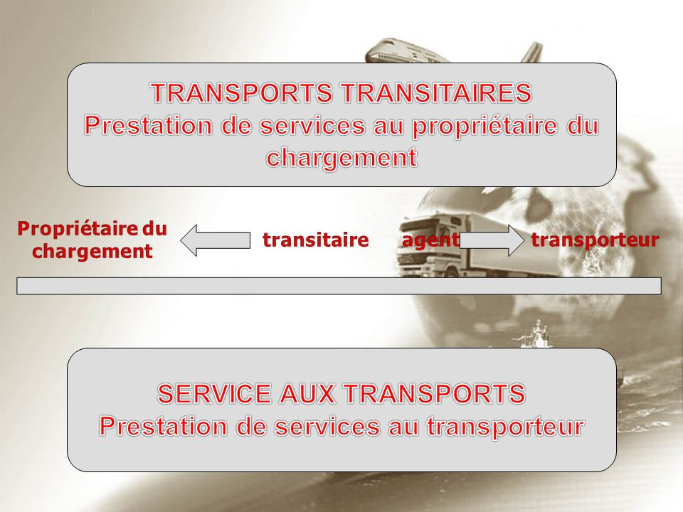 TRANSPORTS TRANSITAIRES