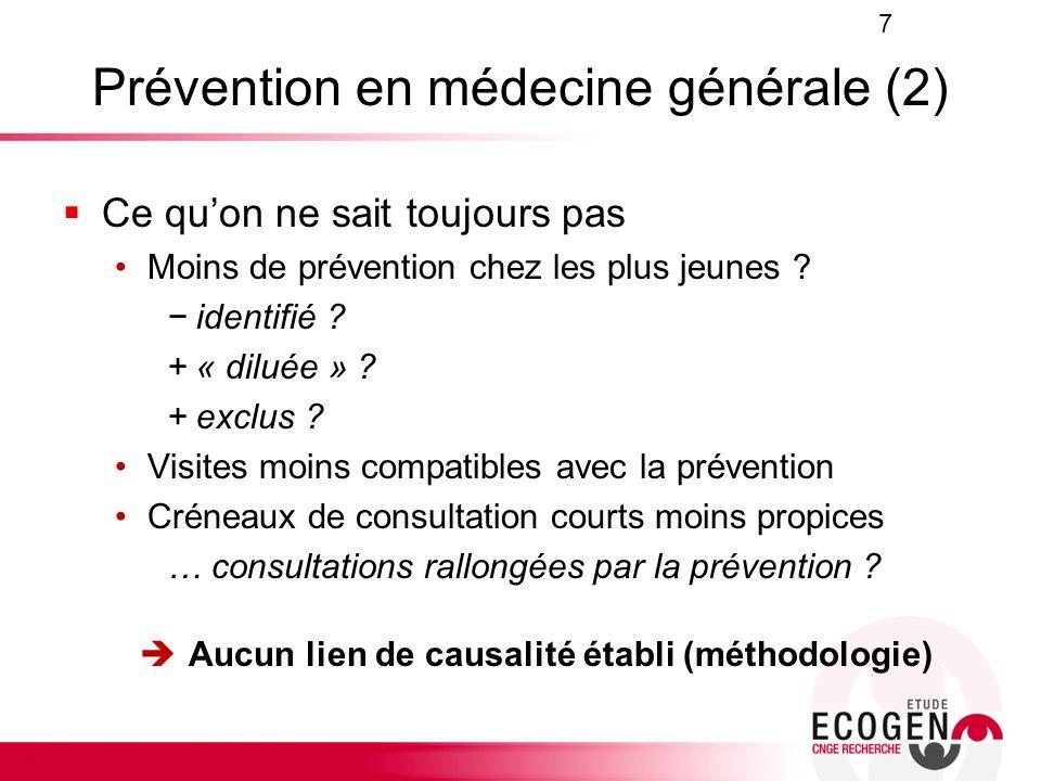 Prévention en médecine générale (2)
