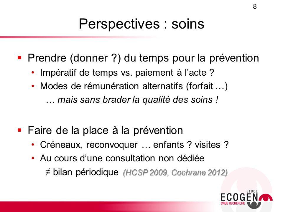 Perspectives : soins Prendre (donner ) du temps pour la prévention