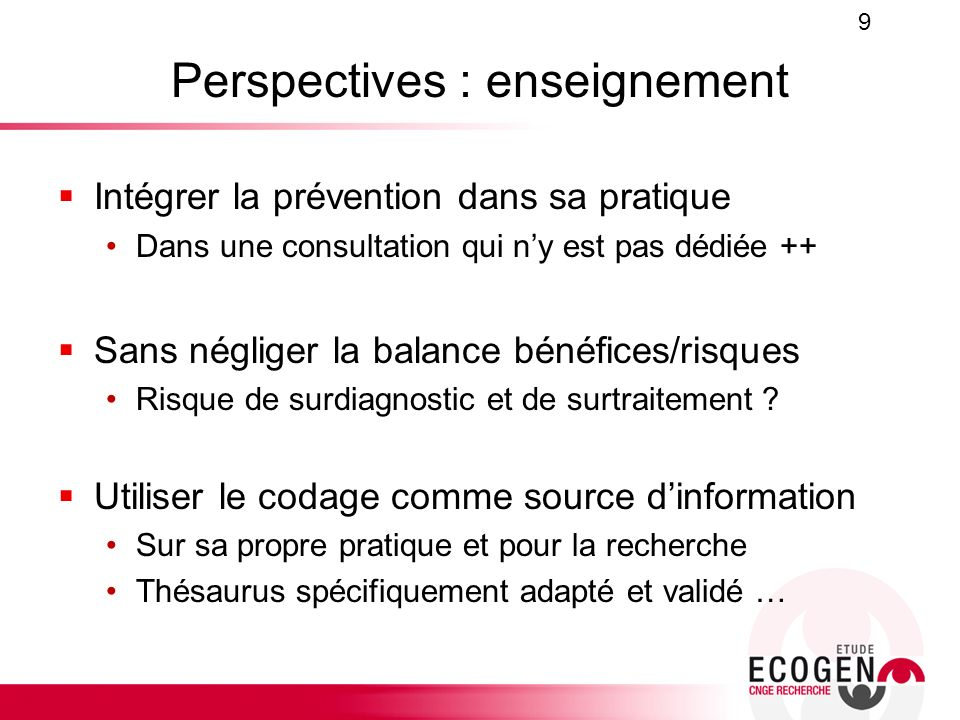 Perspectives : enseignement