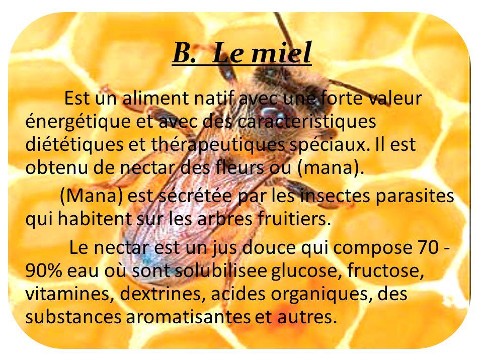 B. Le miel