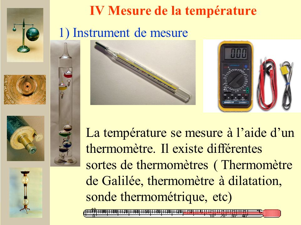 IV Mesure de la température