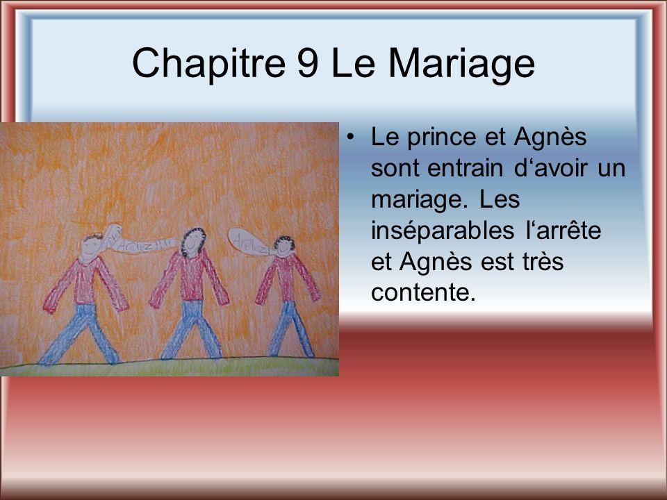 Chapitre 9 Le Mariage Le prince et Agnès sont entrain d'avoir un mariage.