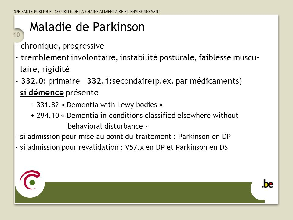 Maladie de Parkinson chronique, progressive