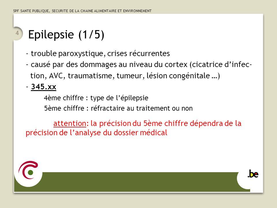 Epilepsie (1/5) trouble paroxystique, crises récurrentes