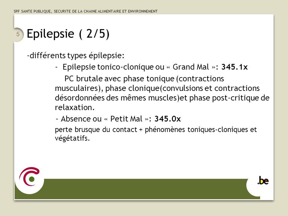 Epilepsie ( 2/5) différents types épilepsie: