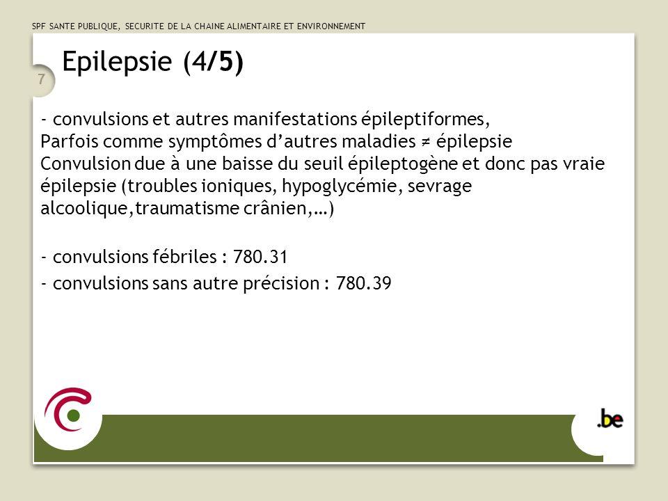 Epilepsie (4/5) - convulsions et autres manifestations épileptiformes,