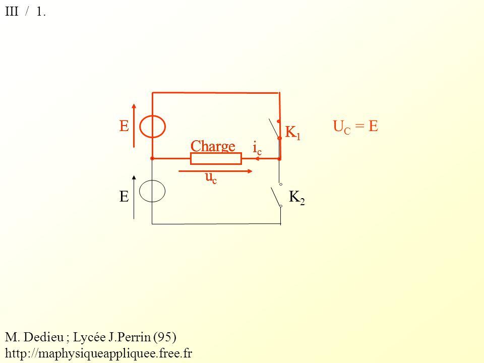 K1 E ic uc Charge K1 E K2 ic uc Charge UC = E III / 1.