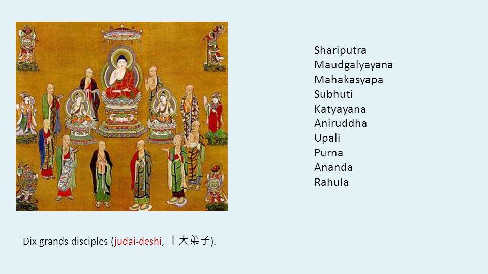 Shariputra Maudgalyayana Mahakasyapa Subhuti Katyayana Aniruddha Upali