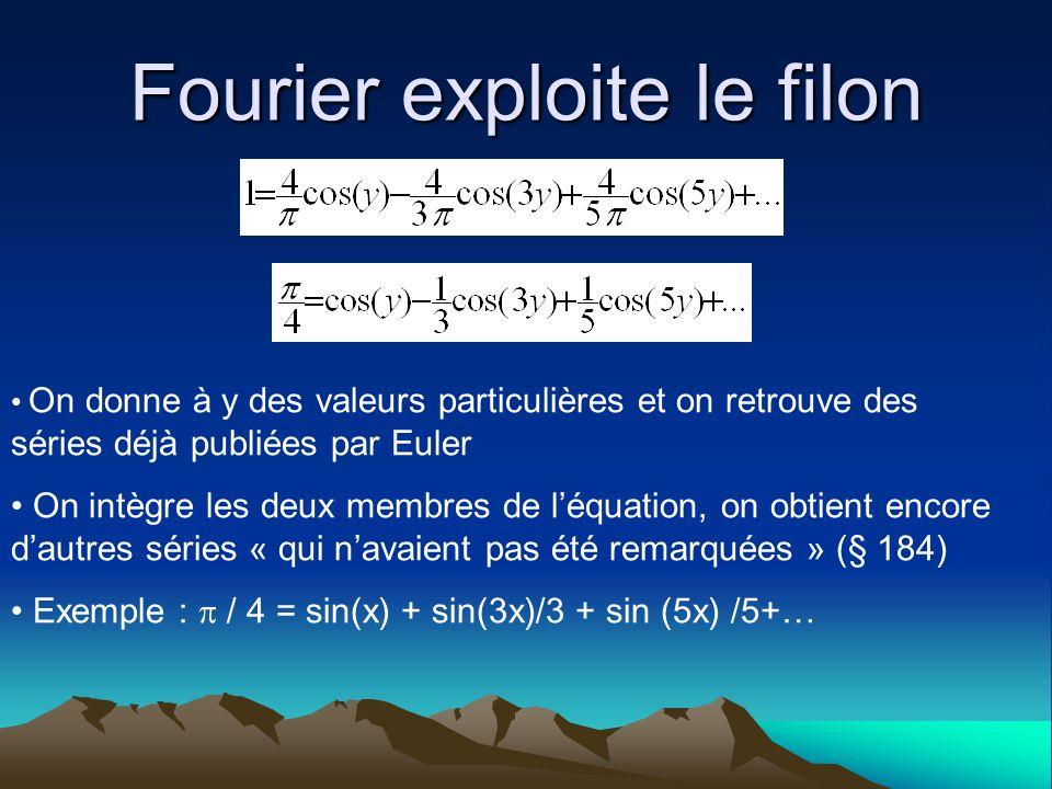 Fourier exploite le filon
