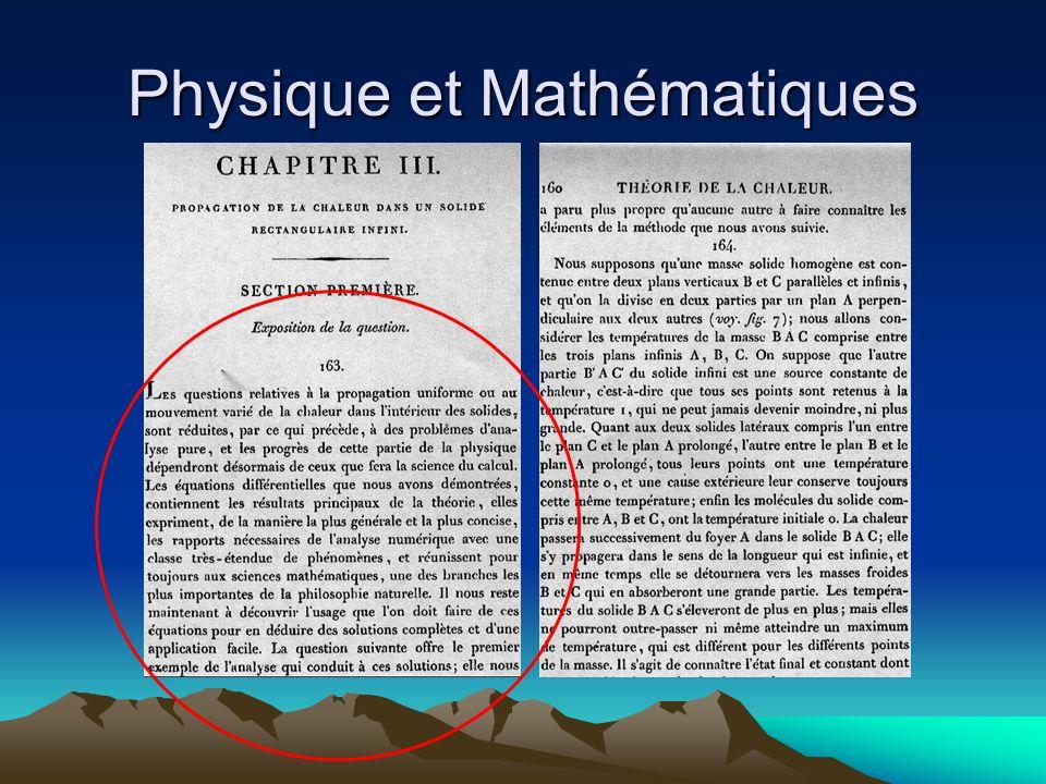 Physique et Mathématiques