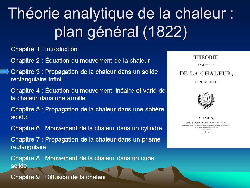 Théorie analytique de la chaleur : plan général (1822)