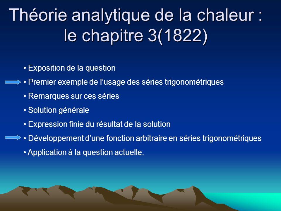 Théorie analytique de la chaleur : le chapitre 3(1822)