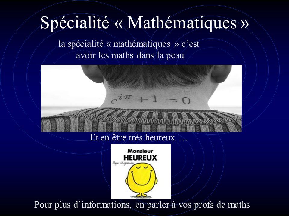 Spécialité « Mathématiques »
