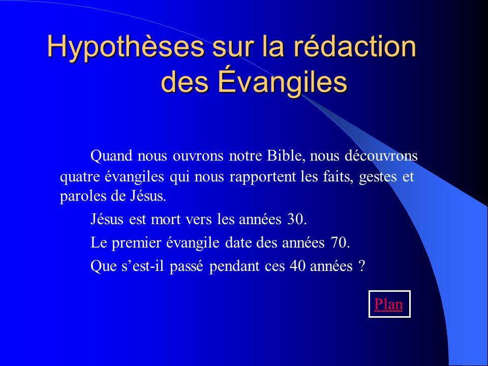 Hypothèses sur la rédaction des Évangiles