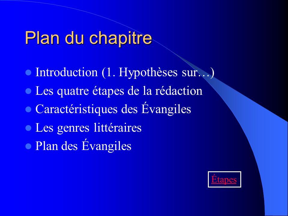 Plan du chapitre Introduction (1. Hypothèses sur…)