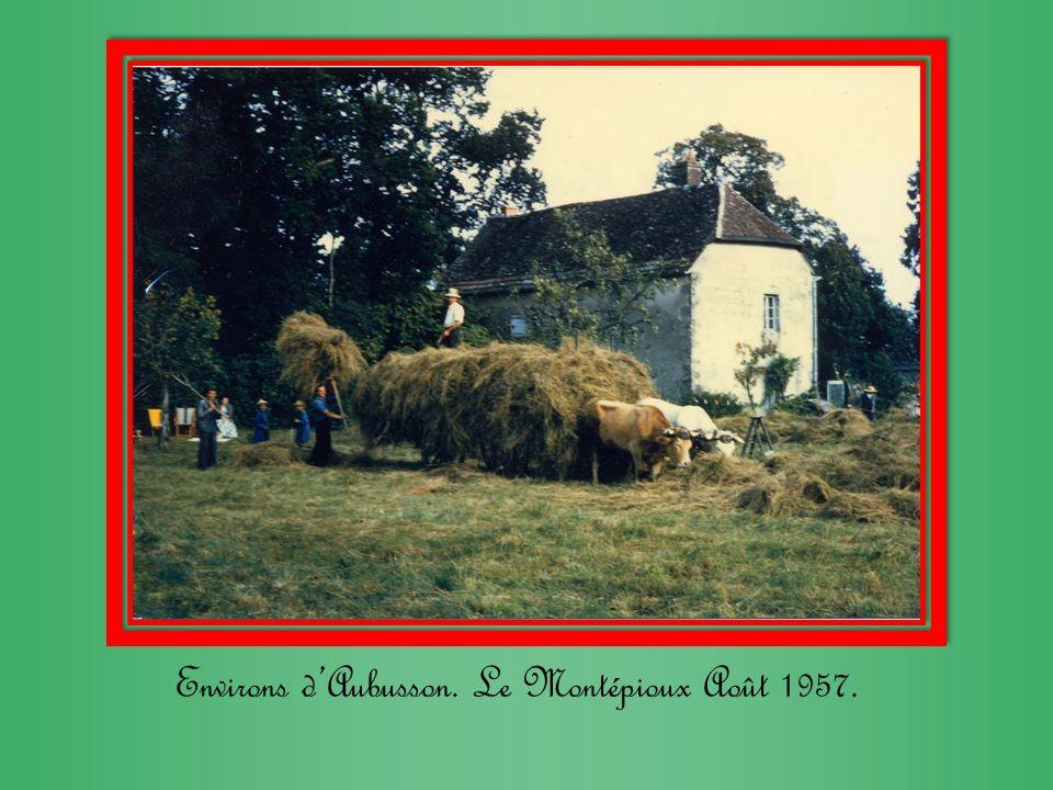 Environs d'Aubusson. Le Montépioux Août 1957.