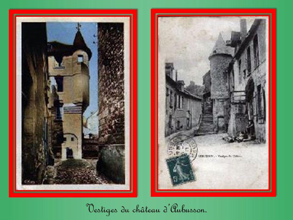 Vestiges du château d'Aubusson.
