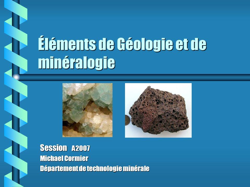 Éléments de Géologie et de minéralogie
