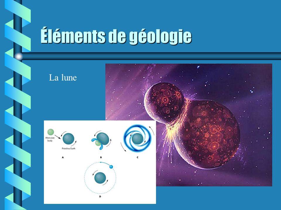 Éléments de géologie La lune