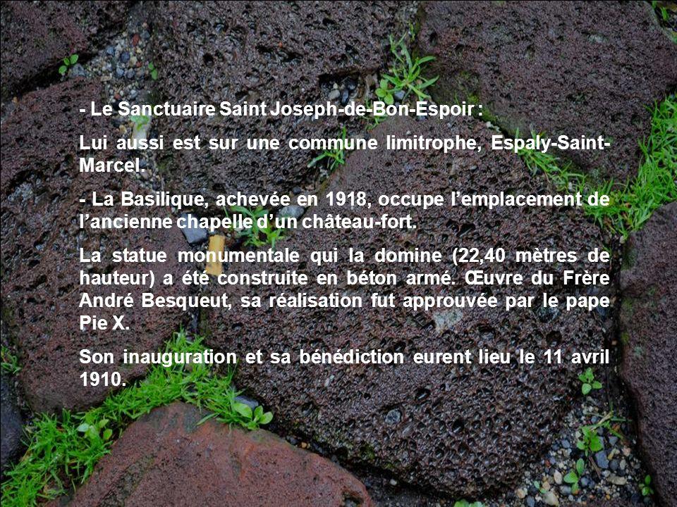 - Le Sanctuaire Saint Joseph-de-Bon-Espoir :