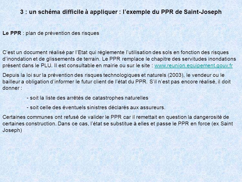 3 : un schéma difficile à appliquer : l'exemple du PPR de Saint-Joseph