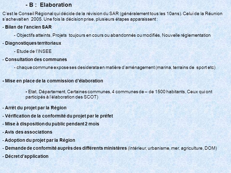- B : Elaboration