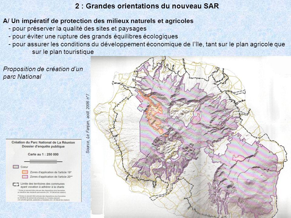 2 : Grandes orientations du nouveau SAR